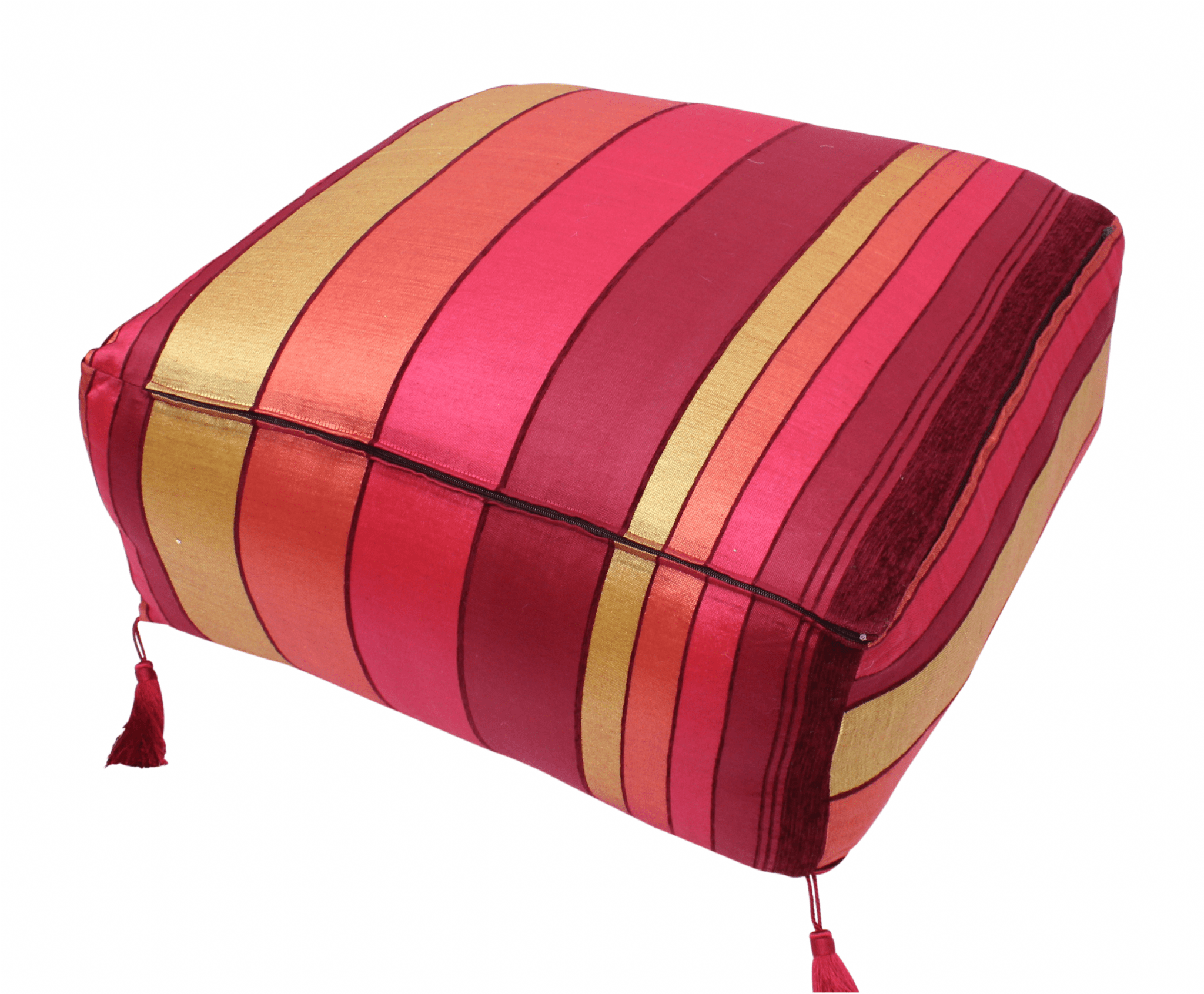 Pouf Xl Moroccan Pouf Pouffe Footrest Floor Cushion Cover Red Sabra